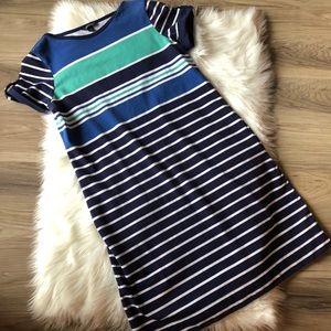 Lands' End Dress Striped Size 10/12